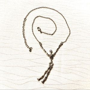 Halloween hanging Skeleton Shaped Chain Necklace